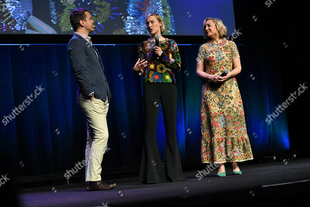 Dave Karger, Josie Rourke and Saoirse Ronan