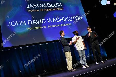 Dave Karger, John David Washington and Jason Blum