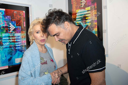 Stock Photo of Ute Henriette Ohoven and David LaChapelle