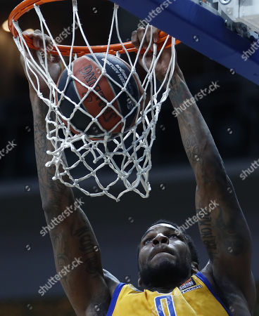 Thomas Robinson of Khimki Moscow Region in action during the Euroleague basketball playoff match between CSKA Moscow and Khimki Moscow Region in Moscow, Russia, 25 April 2018.