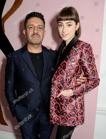 Osman Yousefzada and Ellise Chappell