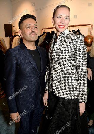 Osman Yousefzada and Kristina Blahnik