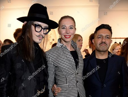 Joshua Kane, Kristina Blahnik and Osman Yousefzada