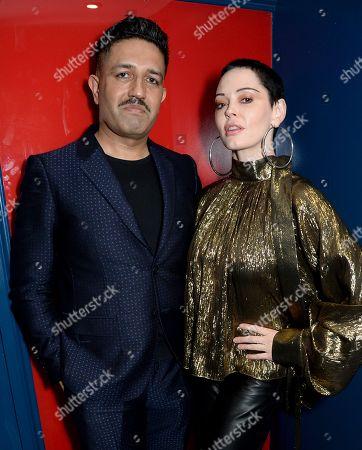 Osman Yousefzada and Rose McGowan
