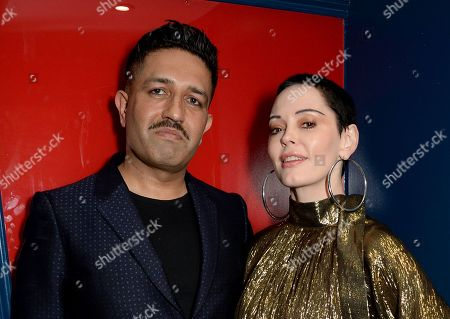 Stock Picture of Osman Yousefzada and Rose McGowan