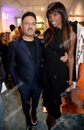 Osman Yousefzada and Lorraine Pascale