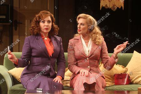 Tracy-Ann Oberman as Monica Reed (L) and Katherine Kingsley as Liz Essendine