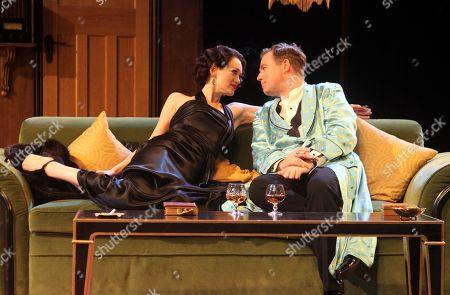 Rufus Hound as Garry Essendine and Lucy Briggs-Owen as Joanna Lyppiatt
