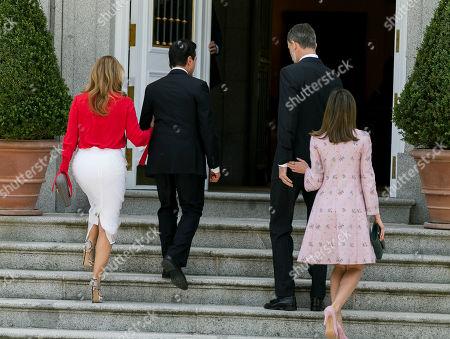 King Felipe VI of Spain and Queen Letizia, President Enrique Pena Nieto and his wife Angelica Rivera