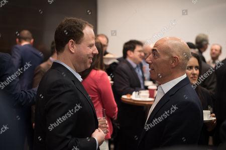 Hugo Bieber CEO of UK Israel Business with Leon Blitz, Chairman of UK Israel Business.