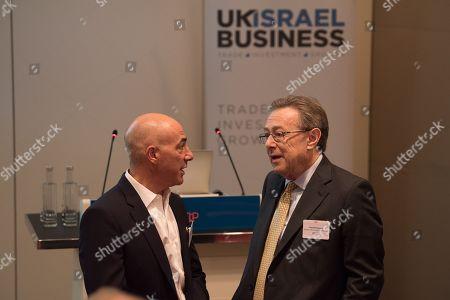 Leon Blitz, Chairman of UK Israel Business, with Harold Paisner.