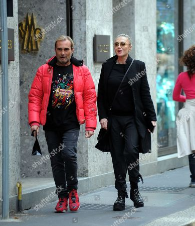 Editorial image of Paola Barale out and about, Milan, Italy - 13 Apr 2018