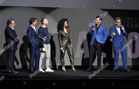 Jim Gianopulos, Tom Cruise, Simon Pegg, Angela Bassett, Henry Cavill and Christopher McQuarrie