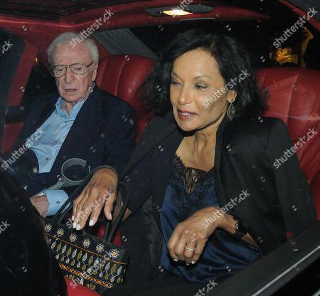 Sir Michael Caine and Shakira Caine leaving Scott's restaurant
