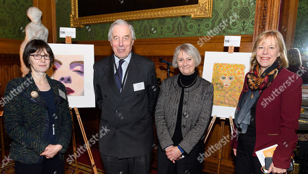 Stock Image of Debbie Pippiard (Barrow Cadbury Trust), Lord Ramsbotham, Dame Anne Owers (Chair of Koestler Trust) and Ruth Cadbury MP.