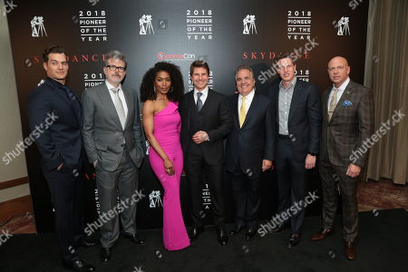 Henry Cavill, Christopher McQuarrie, Angela Bassett, Tom Cruise, Jim Gianopulos, David Ellison, Kyle Davies