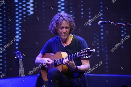 Editorial picture of Dominic Miller and Nicolas Fiszman in concert, Yota Arena, Moscow, Russia - 25 Apr 2018