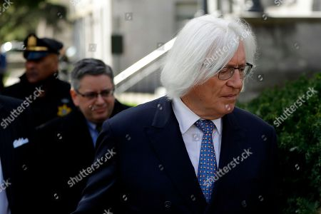 Stock Picture of Attorney Tom Mesereau arrives for Bill Cosby's sexual assault trial, at the Montgomery County Courthouse in Norristown, Pa