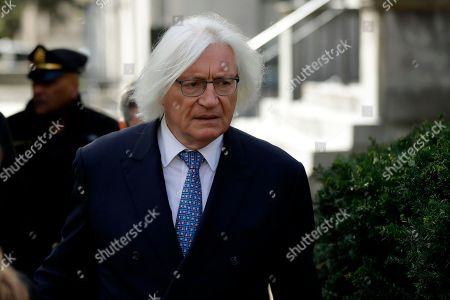 Stock Image of Attorney Tom Mesereau arrives for Bill Cosby's sexual assault trial, at the Montgomery County Courthouse in Norristown, Pa