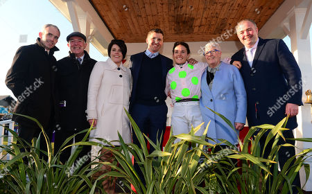 Stock Picture of PUNCHESTOWN. Day 4. KATIE WALSH pictured with her family after she announced her retirement from riding when winning on ANTEY (L-R) Ruby Walsh, Ted Walsh, Jennifer Walsh, Ross O'Sullivan (Husband), Helen Walsh and Ted Jnr.