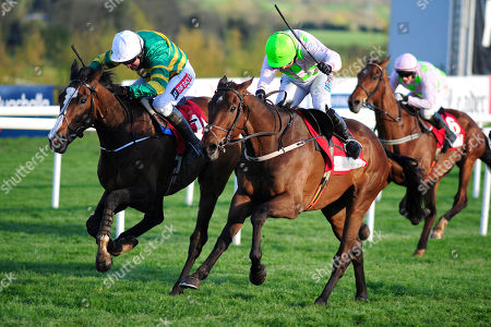 PUNCHESTOWN. Day 4. ANTEY and Katie Walsh (right) beats SHADY OPERATOR (Barry Geraghty) to win for trainer Willie Mullins.