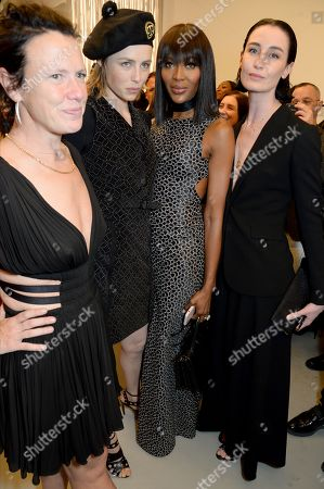 Katie Grand, Edie Campbell, Naomi Campbell and Erin O'Connor