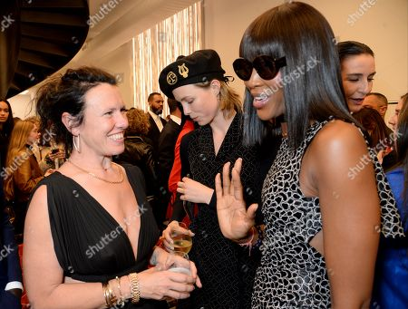 Katie Grand, Edie Campbell and Naomi Campbell