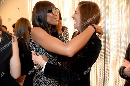 Naomi Campbell and Elizabeth Saltzman