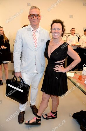 Giles Deacon and Katie Grand