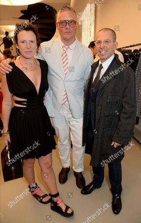 Stock Picture of Katie Grand, Giles Deacon and Jonathan Newhouse