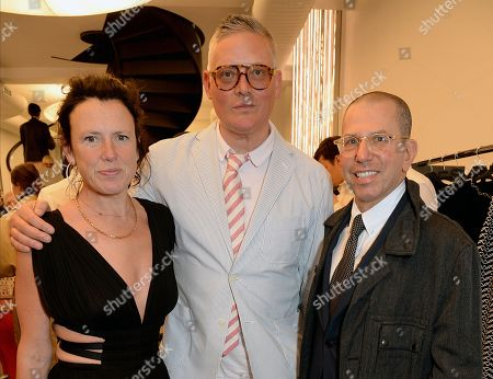 Katie Grand, Giles Deacon and Jonathan Newhouse