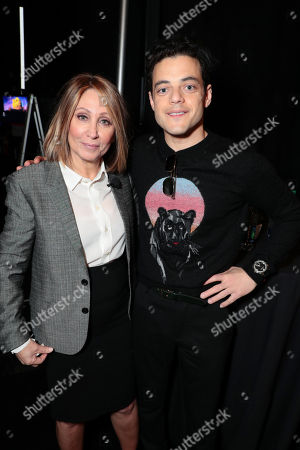 Stacey Snider, Chairman and CEO of Twentieth Century Fox Film, and Rami Malek