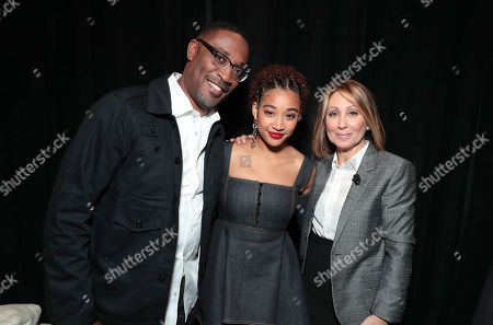 George Tillman Jr., director/producer, Amandla Stenberg and Stacey Snider, Chairman and CEO of Twentieth Century Fox Film