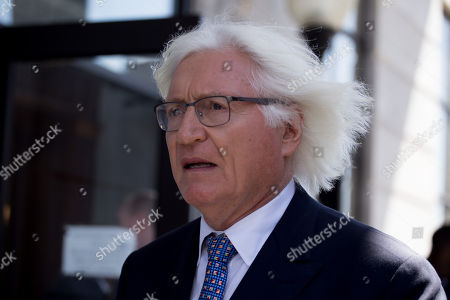 Stock Image of Defense attorney Thomas Mesereau leaves the courtroom after his client Bill Cosby was found guilty on three sexual assault charges in his retrial outside Philadelphia.