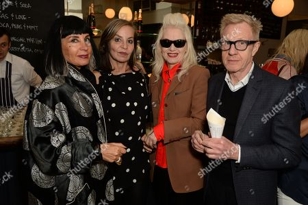 Sue Timney, Carole Siller, Pam Hogg and Philip Start