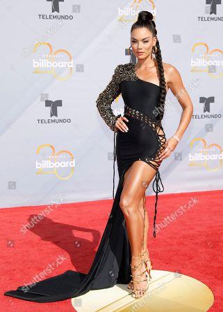 Zuleyka Rivera arrives at the Billboard Latin Music Awards at the Mandalay Bay Events Center, in Las Vegas