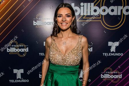 Stock Image of Candela Ferro poses at the 20th annual Latin Billboard Awards at the Mandalay Bay Events Center, in Las Vegas