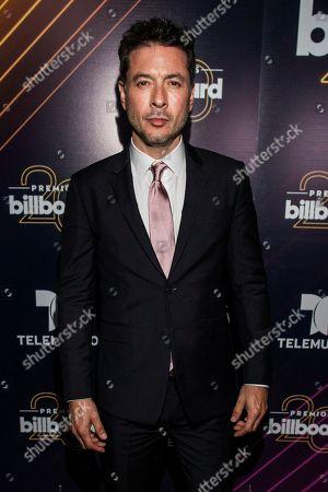 Raul Mendez poses at the Latin Billboard Awards at Mandalay Bay Events Center, in Las Vegas