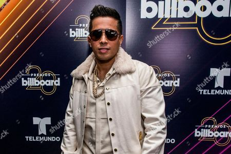De La Ghetto poses at the 20th annual Latin Billboard Awards at the Mandalay Bay Events Center, in Las Vegas