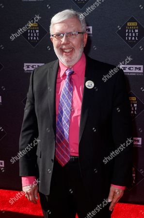 """Leonard Maltin arrives at the screening of """"The Producers"""" at the 2018 TCM Classic Film Festival Opening Night at the TCL Chinese Theatre, in Los Angeles"""