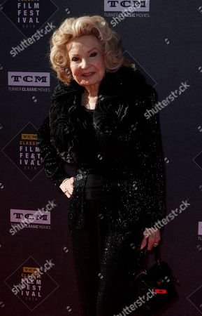 """Cora Sue Collins arrives at the screening of """"The Producers"""" at the 2018 TCM Classic Film Festival Opening Night at the TCL Chinese Theatre, in Los Angeles"""