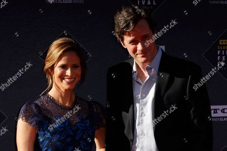 "Andrea Savage, Tom Everett Scott. Andrea Savage, left, and Tom Everett Scott arrive at the screening of ""The Producers"" at the 2018 TCM Classic Film Festival Opening Night at the TCL Chinese Theatre, in Los Angeles"
