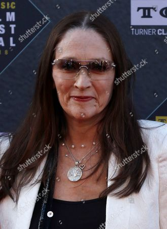 """Stock Picture of Olivia Hussey arrives at the screening of """"The Producers"""" at the 2018 TCM Classic Film Festival Opening Night at the TCL Chinese Theatre, in Los Angeles"""
