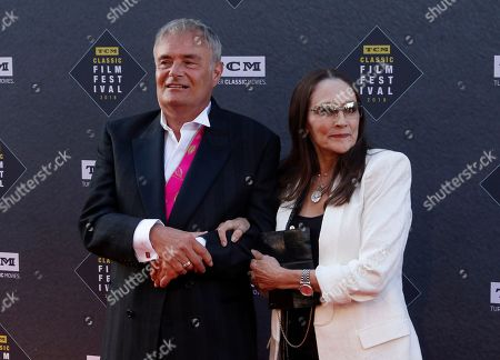 """Stock Photo of Leonard Whiting, Olivia Hussey. Leonard Whiting, left, and Olivia Hussey arrive at the screening of """"The Producers"""" at the 2018 TCM Classic Film Festival Opening Night at the TCL Chinese Theatre, in Los Angeles"""
