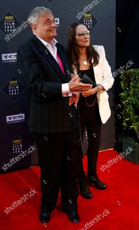 """Leonard Whiting, Olivia Hussey. Leonard Whiting, left, and Olivia Hussey arrive at the screening of """"The Producers"""" at the 2018 TCM Classic Film Festival Opening Night at the TCL Chinese Theatre, in Los Angeles"""