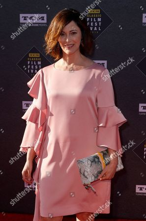 """Joanna Going arrives at the screening of """"The Producers"""" at the 2018 TCM Classic Film Festival Opening Night at the TCL Chinese Theatre, in Los Angeles"""