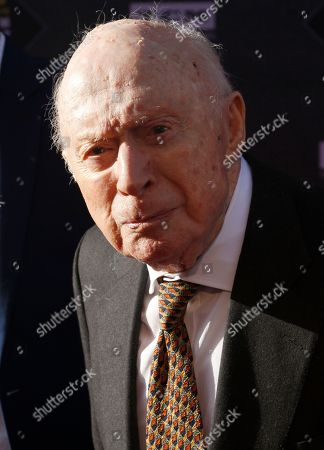 """Stock Photo of Norman Lloyd arrives at the screening of """"The Producers"""" at the 2018 TCM Classic Film Festival Opening Night at the TCL Chinese Theatre, in Los Angeles"""