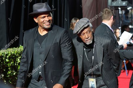 """Mario Van Peebles, Melvin Van Peebles. Mario Van Peebles, from left and Melvin Van Peebles arrive at the screening of """"The Producers"""" at the 2018 TCM Classic Film Festival Opening Night at the TCL Chinese Theatre, in Los Angeles"""