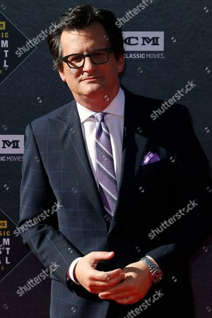 "Ben Mankiewicz arrives at the screening of ""The Producers"" at the 2018 TCM Classic Film Festival Opening Night at the TCL Chinese Theatre, in Los Angeles"