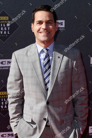 """Dave Karger arrives at the screening of """"The Producers"""" at the 2018 TCM Classic Film Festival Opening Night at the TCL Chinese Theatre, in Los Angeles"""